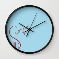 scorpio Wall Clocks featuring Scorpio by LindsayMichelle