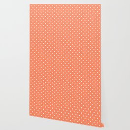 Peach Polka Dots Wallpaper