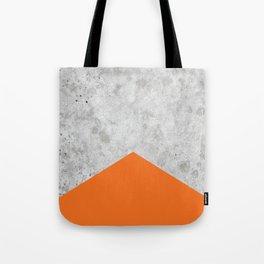 Concrete Arrow Orange #118 Tote Bag