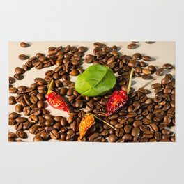 King cabbage and chili coffee Rug