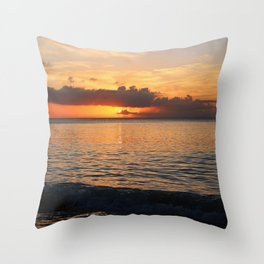 A Cayman Sunset Throw Pillow