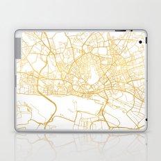 HAMBURG GERMANY CITY STREET MAP ART Laptop & iPad Skin
