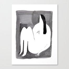 a lady sits Canvas Print