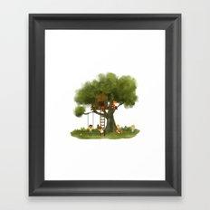 Tree Kids House Framed Art Print