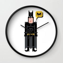 Pixel ManBat Wall Clock