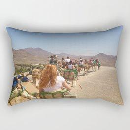 Camel Riders Rectangular Pillow