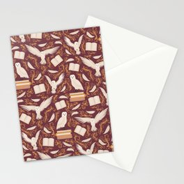 Magic owl pattern Stationery Cards