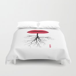red lips Duvet Cover