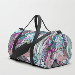 Colorful Wolf Duffle Bag