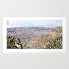 Majestic Grand Canyon with Tourists Art Print