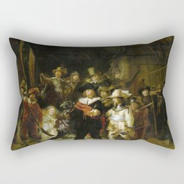 The Night Watch by Rembrandt (1642) Rectangular Pillow