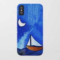 sailing iPhone & iPod Cases featuring Sailing by Brontosaurus