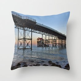 The Boathouse on the Pier. Throw Pillow