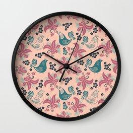Bird in the nest Wall Clock