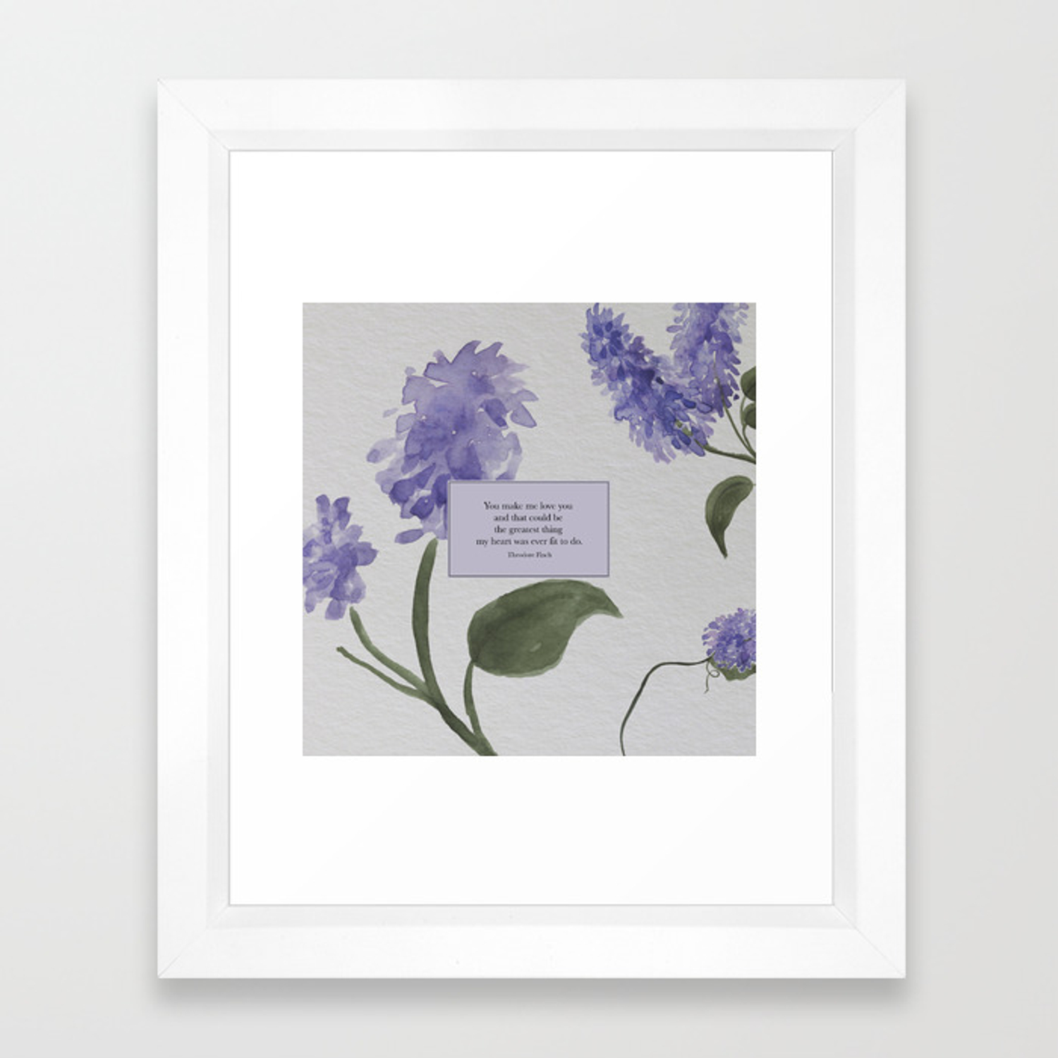 You Make Me Love You Theodore Finch All The Bright Places Framed Art Print By Literarylifestylecompany Society6
