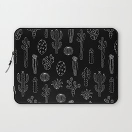 Cactus Silhouette White And Black Laptop Sleeve