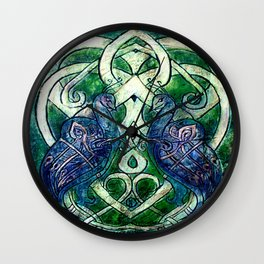 Celtic Peacocks Wall Clock