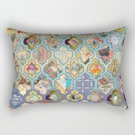 Oriental grill mosaic Rectangular Pillow