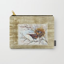 Little Bird Watercolor Carry-All Pouch