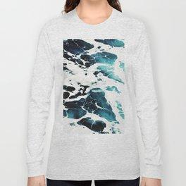 Dark Ocean Waves Long Sleeve T-shirt