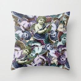 Renaissance Cherub Toss in Jewel Tones Throw Pillow