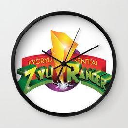 Zyu Ranger Logo Mashup Wall Clock