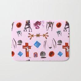 Evangelion Angels Pattern Bath Mat
