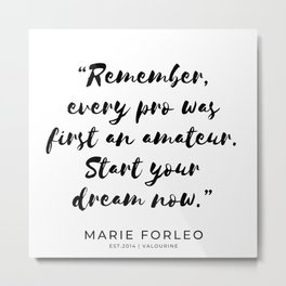 1 | Marie Forleo Quotes | 190805 Metal Print