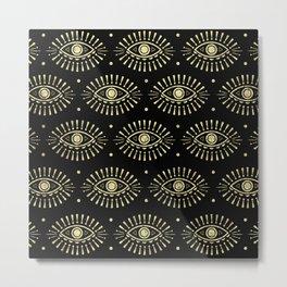 Golden Eyes Metal Print