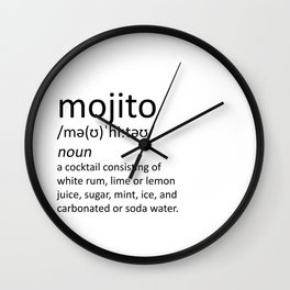 The cocktail series: 'mojito' Wall Clock