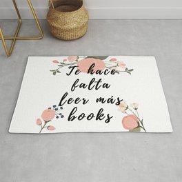 Te hace falta leer más books Rug