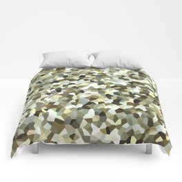 Yellow Mosaic Pattern Comforters