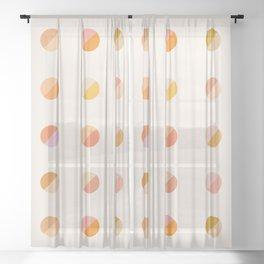 Abstraction_DOT_DOT_Colorful_Minimalism_001 Sheer Curtain