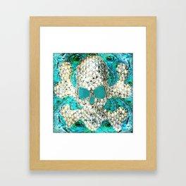 Blingy Blingy Blue Skull Thingy Framed Art Print