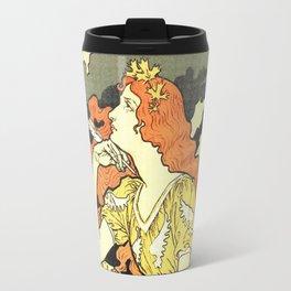 Marquet ink, art nouveau ad by Grasset Travel Mug