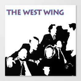 West Wing Stencil  Canvas Print