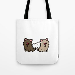 Newfoundland dogs Doggie Puppy Dog Couple Tote Bag