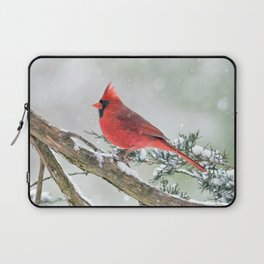 Cardinal Holding Steady in the Storm Laptop Sleeve