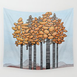 Birch Tree Stand Wall Tapestry