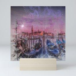 Graphic Art VENICE Gorgeous Sunset Mini Art Print