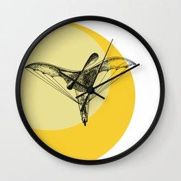 Man on a flying machine Wall Clock
