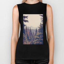 Mountains through the Trees Biker Tank