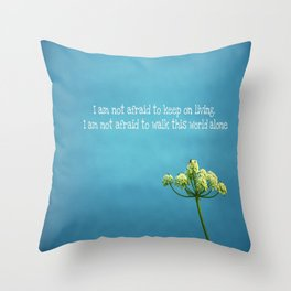 """Famous Last Words"" Throw Pillow"