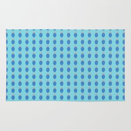 Blue Party Pineapple Pattern Rug