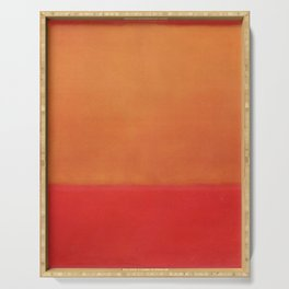 1954 Ochre Red on Red by Mark Rothko HD Serving Tray