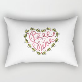 Bee Mine Valentine Rectangular Pillow