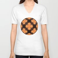 darren criss V-neck T-shirts featuring Criss Cross by Lyle Hatch