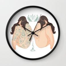 Tattoo vs No Tattoo = Equally beautiful  Wall Clock