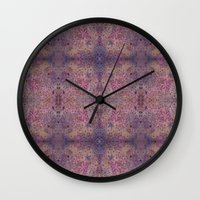 chakra Wall Clocks featuring Chakra Flowers by bunglo by shay spaniola