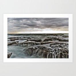 Stormy sea's Art Print